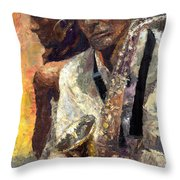 Jazz Muza  Throw Pillow