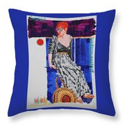 Jazz On The Square Throw Pillow