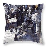 Jazz Parker Tristano Bauer Safransky Rca Studio Ny 1949 Throw Pillow by Yuriy  Shevchuk