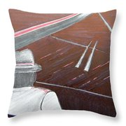 Jazz Pianist At The Brigantine Room Throw Pillow