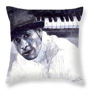 Jazz Roberto Fonseca Throw Pillow by Yuriy  Shevchuk