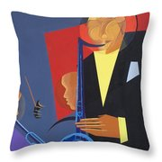 Jazz Sharp Throw Pillow by Kaaria Mucherera