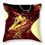 Jazz Singer Throw Pillow