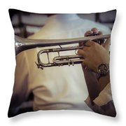 Jazz Trumpet New Orleans Throw Pillow