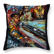 Jazz Tunes Throw Pillow