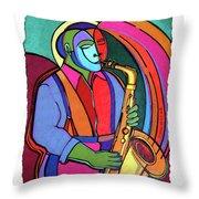 Jazzin #3 Throw Pillow