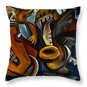 Black Cat Jazzz Throw Pillow