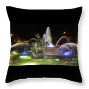 J.c. Nichols Fountain-4981 Throw Pillow