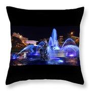 J.c.nichols Fountain-9802b Throw Pillow