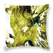 Jd And Leo- Inverted Gold Throw Pillow