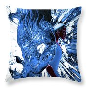 Jd And Leo- Inverted Ice Blue Throw Pillow