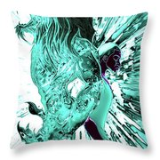 Jd And Leo- Inverted Lite Blue Throw Pillow