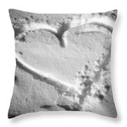 Winter Heart Throw Pillow