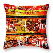Je T'aime Love Bench Throw Pillow