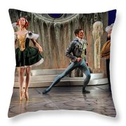 Jealous Stepsister Ballerinas En Pointe With Guests At The Ball  Throw Pillow
