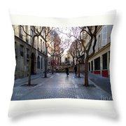 Jean Beauvais Paris Couple Walking Throw Pillow