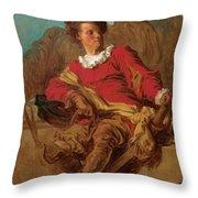 Jean-claude Richard Abbe Of Saint-non Throw Pillow