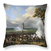 Jean Horace Vernet   The Battle Of Hanau Throw Pillow