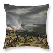 Jean Horace Vernet   The Battle Of Valmy Throw Pillow