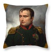 Jean Horace Vernet   The Emperor Napoleon I Throw Pillow