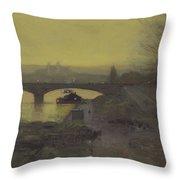 Jean-joseph-xavier View Of The Waterfalls At Tivoli 1788 Throw Pillow