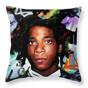 Jean, Michel, Basquiat II Throw Pillow