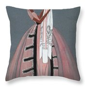 Jeanne Lanvin Design, 1925 Throw Pillow