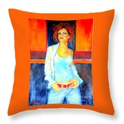 Jeans Throw Pillow