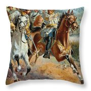 Jeb Stuarts Cavalry 1862 Throw Pillow