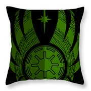 Jedi Symbol - Star Wars Art, Green Throw Pillow