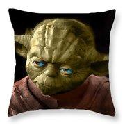 Jedi Yoda Throw Pillow