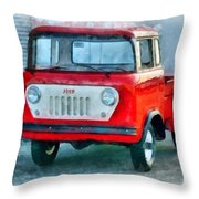 Jeep 1959 Fc150 Forward Control Pickup Throw Pillow