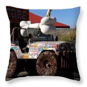 Jeep Art Throw Pillow