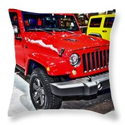 Jeep Wrangler X Throw Pillow