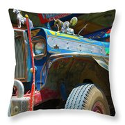 Jeepney Throw Pillow