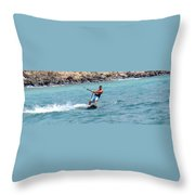 Jeff Kite Surfer Throw Pillow