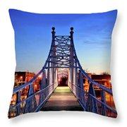 Jefferson Avenue Footbridge Throw Pillow