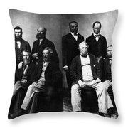 Jefferson Davis Trial Throw Pillow