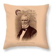 Jefferson Davis Vintage Advertisement Throw Pillow