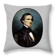 Jefferson Davis Throw Pillow by War Is Hell Store