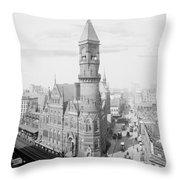 Jefferson Market Nyc Vintage Photo Throw Pillow