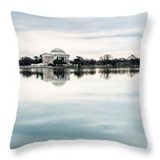 Jefferson Memorial And Tidal Basin Throw Pillow