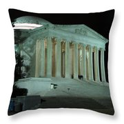 Jefferson Memorial At Night Throw Pillow