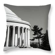Jefferson Memorial Building In Washington Dc Throw Pillow