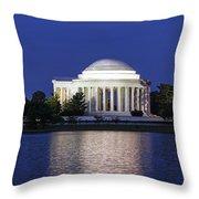 Jefferson Memorial Dusk Throw Pillow