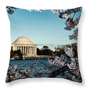 Jefferson Memorial In Spring Throw Pillow