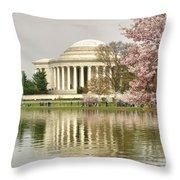 Jefferson Memorial Reflection I Throw Pillow