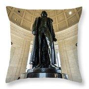 Jefferson Memorial Lll Throw Pillow