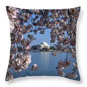Jefferson Memorial On The Tidal Basin Ds051 Throw Pillow