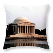Jefferson Monument After Sunset Throw Pillow